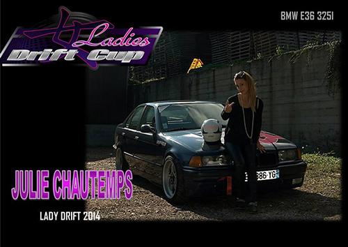 Julie Chautemps, pilote de drift à la Ladies Drift Cup 2014
