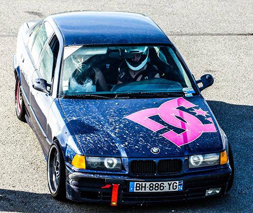 Julie Chautemps et sa BMW