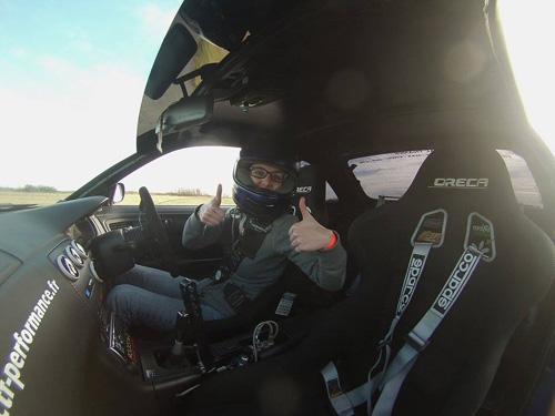 Roxane Espinassier au volant de la S14A