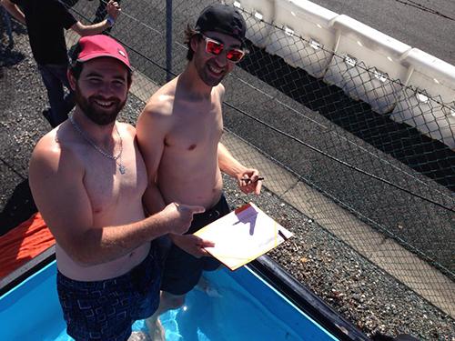 Samy Freçon et Clément Ponsot à la Ladies Drift Cup