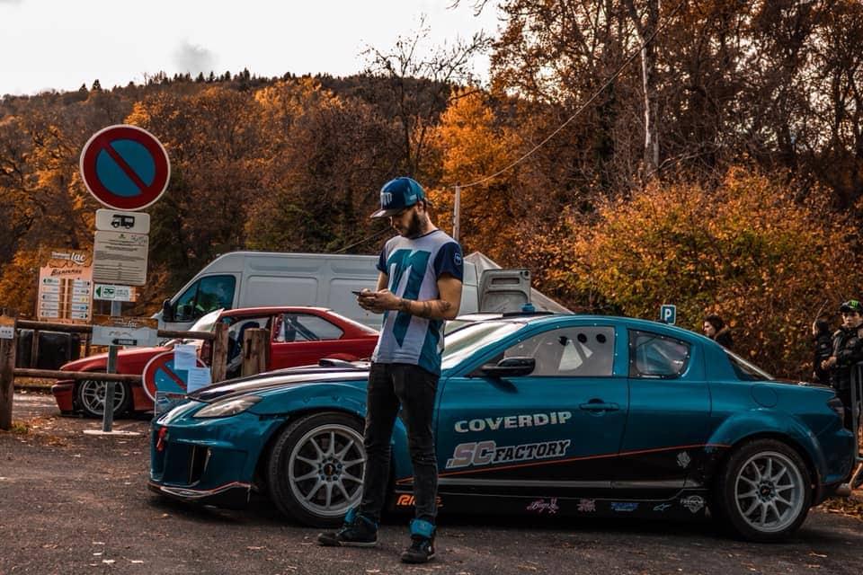 Alex Denomaison et sa Mazda RX8
